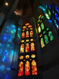 Vitrales de la Sagrada Familia de Gaudí