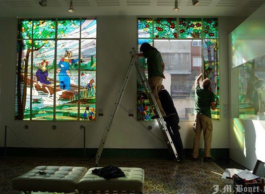 vidriera restauració